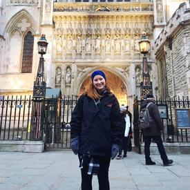 Katherine at Westminster Abbey