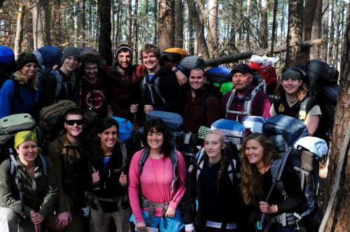 Back Row (From Left)-  Katie Mracek, Justin Hensley, Andrew Saults, Josh Mauser, Ryan Lovelace, Matt Renick, Dr. Steve Spencer, and Chance McCormack.