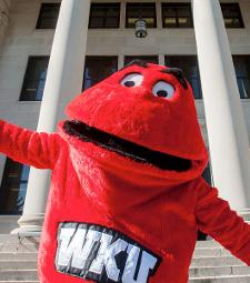 Big Red with arms open