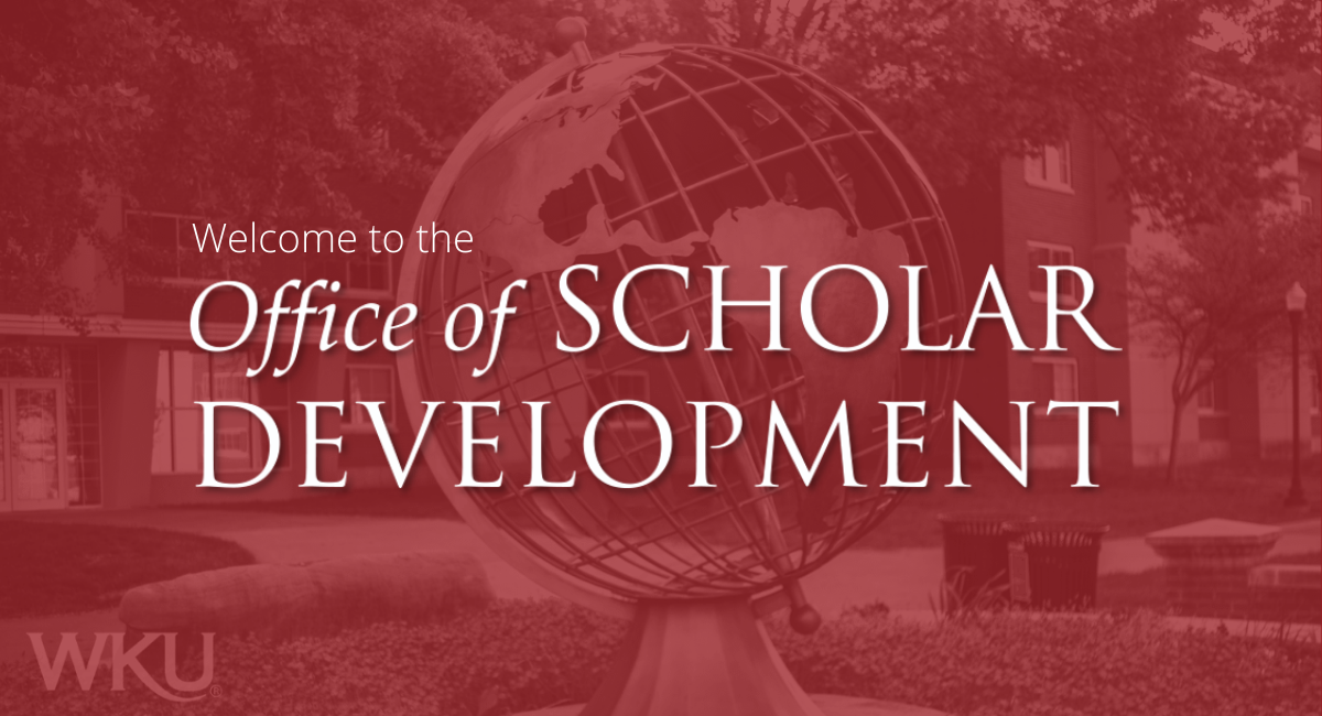 Welcome to the Office of Scholar Development! We're glad you're here.