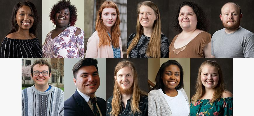 WKU students Riana Berry, Sheila Butler, Elizabeth Chagnon, Lillian Golden, Elisabeth Hernandez-Torres, Michael King, Jeremy McFarland, Robert Myers, Antonio McManis, Aaliyah Neblett and Nyla Rogers were selected as Gilman Scholars.