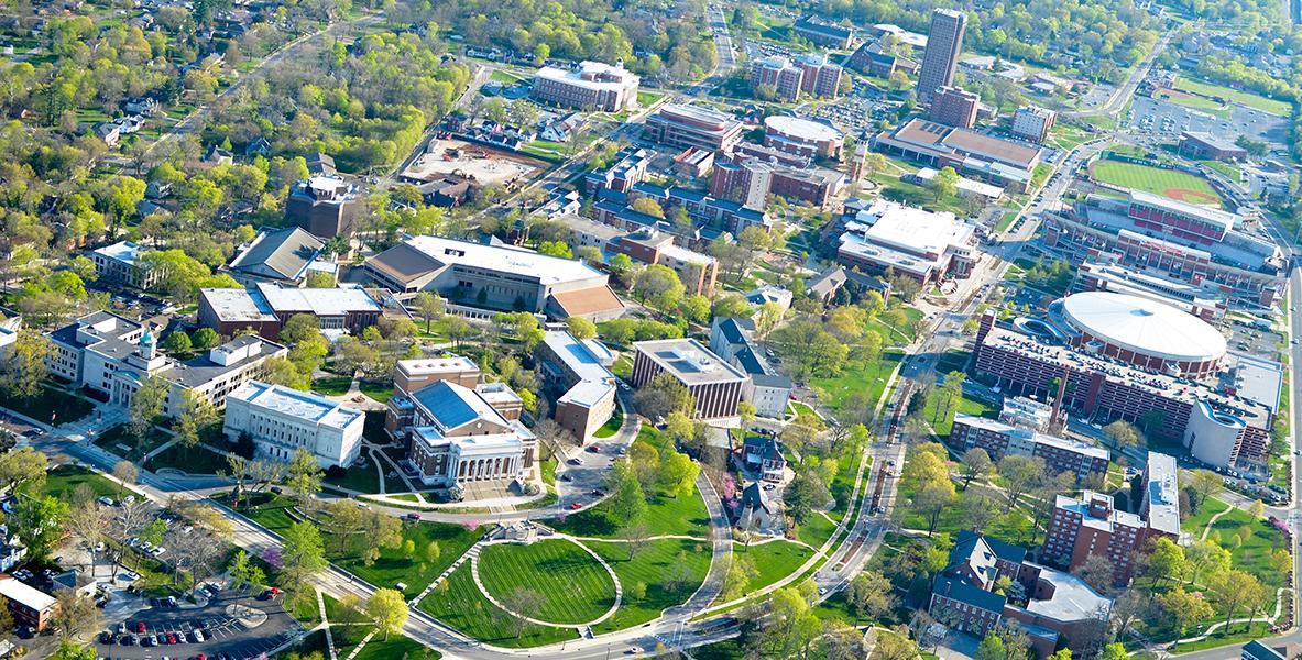 Bird's-eye view of WKU