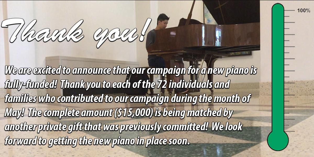 Thank you - Gatton Piano Donations