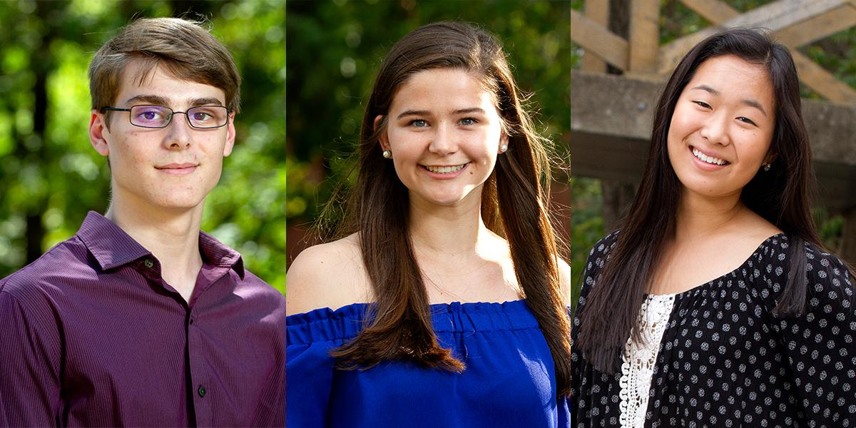 Alex Stewart, Sydney Wheeler and Eura Shin are  named 2019 Goldwater Scholars!
