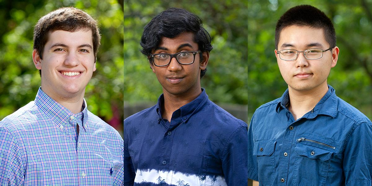 Seniors Devin Davis, Koushik Devarakonda and Daniel Yan were recognized as US Presidential Scholar Candidates.