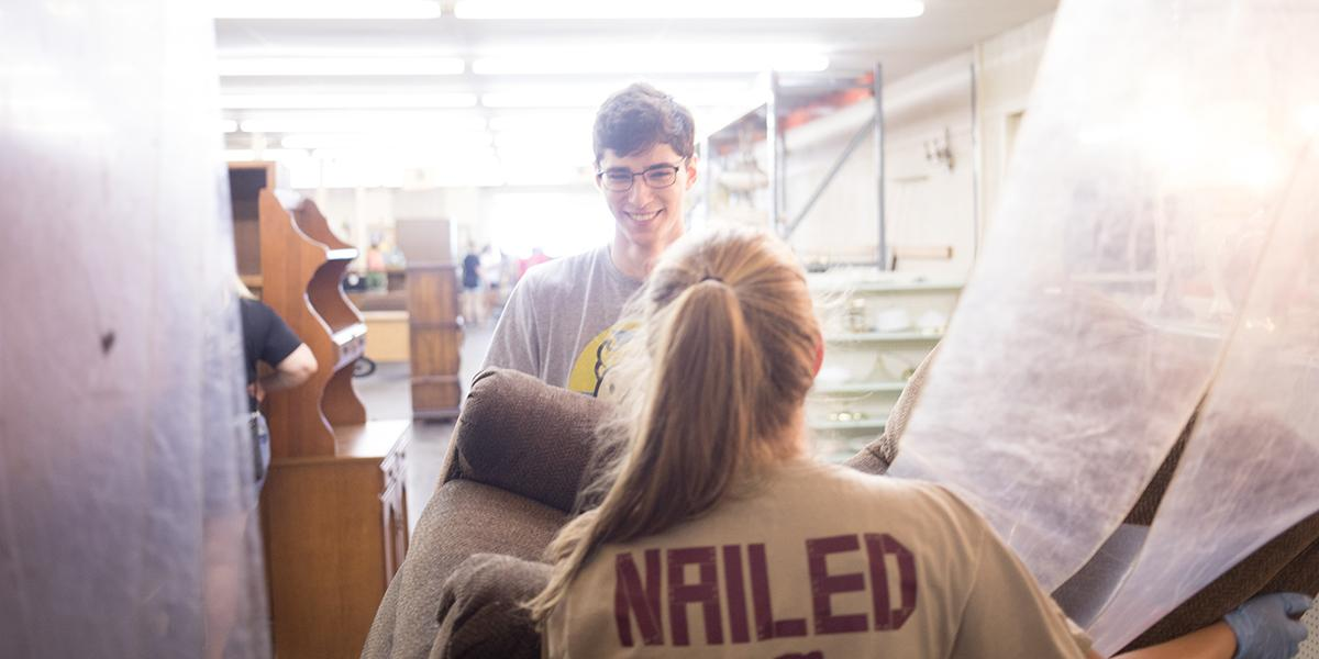 Students volunteer in the community during Big Red's Blitz