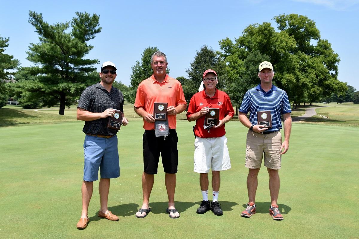 Kelly Crowe (Johnson Controls), John Foley (Spear Corporation), Chris Nelms (Kiefer Sports Flooring), Mike Stephens (WKU Health Services)