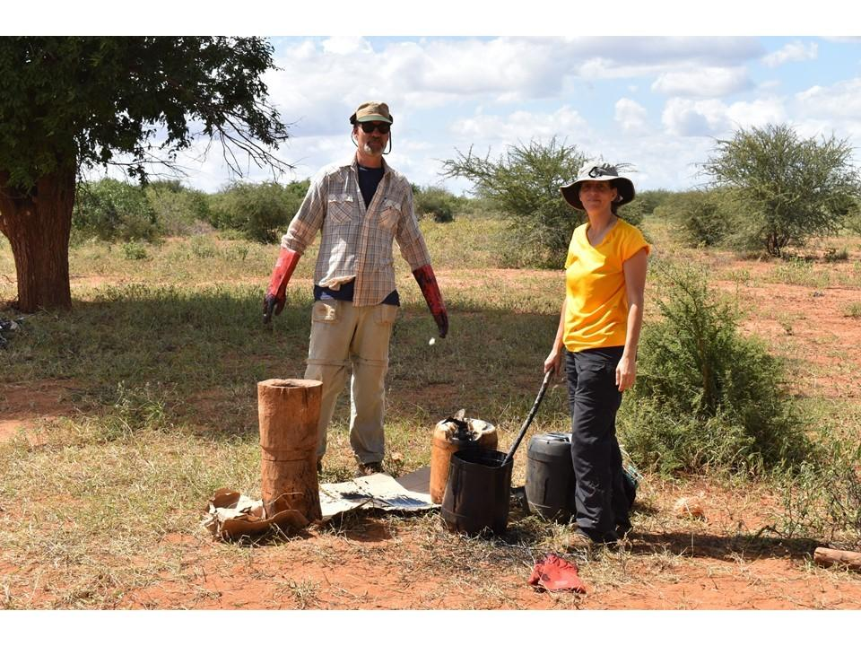 Dr. Bruce Schulte and Student in Africa