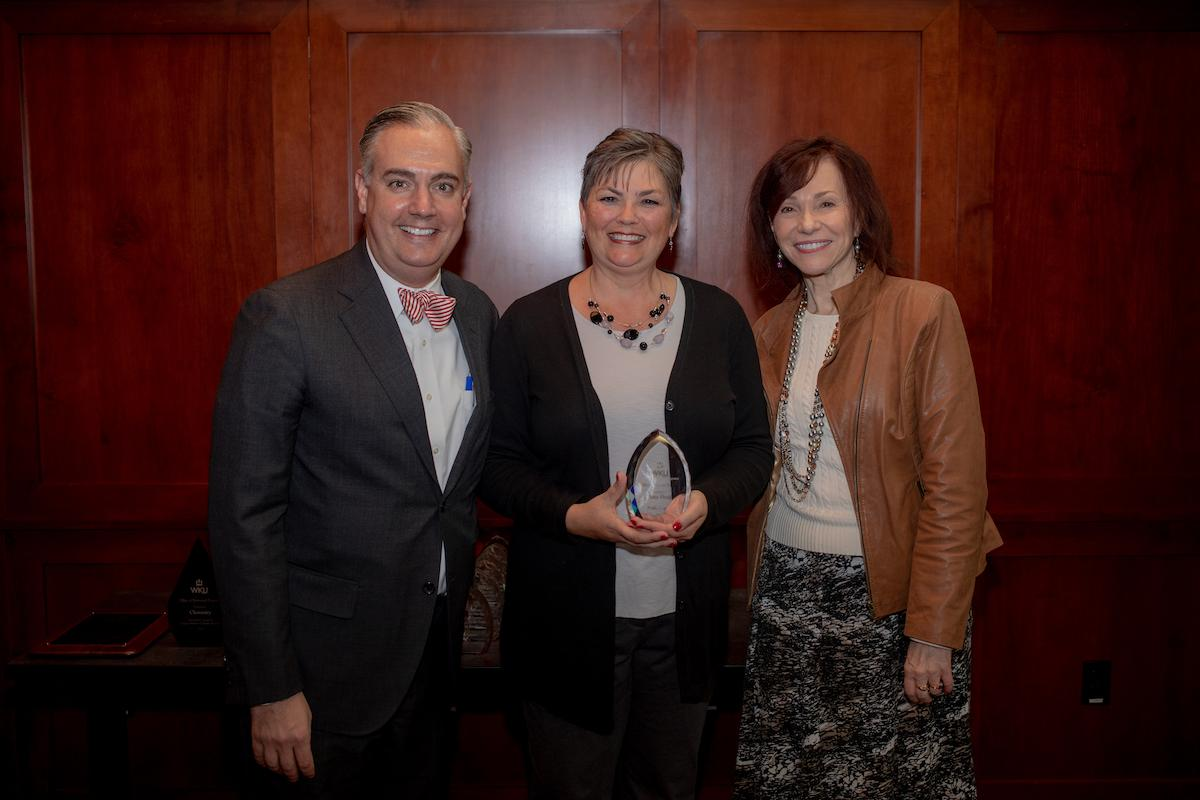 Sherry Meyer accepted the Prolific Proposer Award on behalf of Dr. Amy Hood