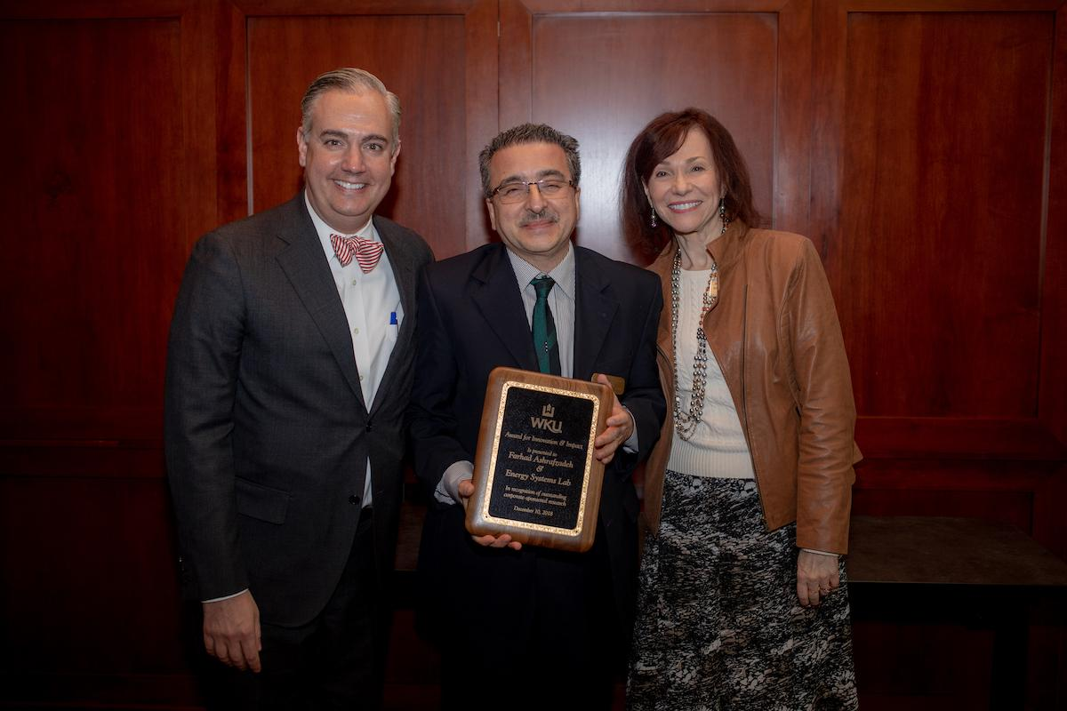 The Award for Innovation & Impact for FY2018 was awarded the Dr. Farhad Ashrafzadeh and the Energy Systems Lab