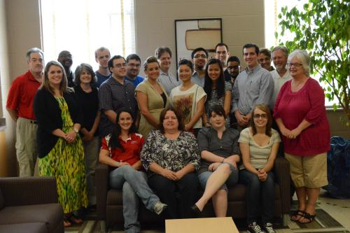 2013 MPA students, faculty, and MPA Advisory Committee.