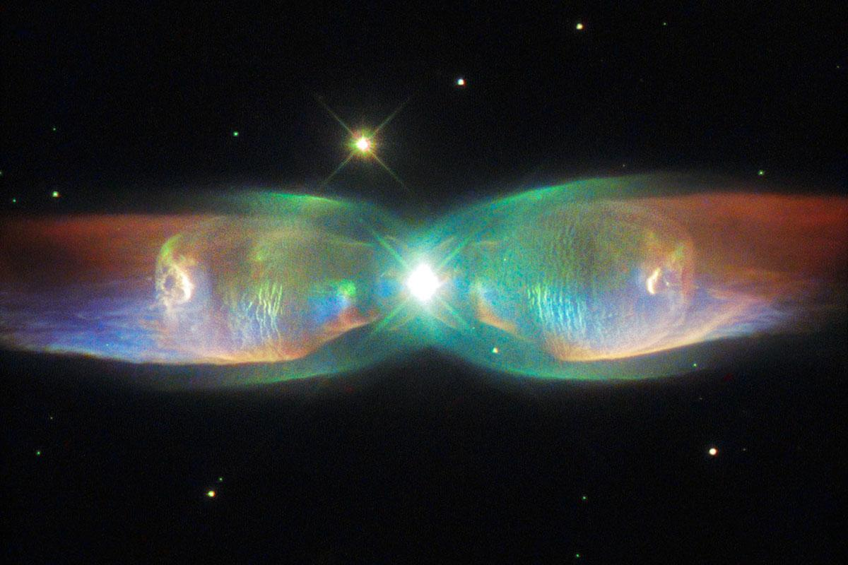 Hubble Space Telescope photo of planetary nebula M2-9, a.k.a. the Butterfly Nebula.