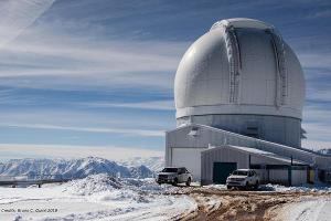 The 4.1-meter SOuthern Astrophysical Research (SOAR) telescope in Chile.