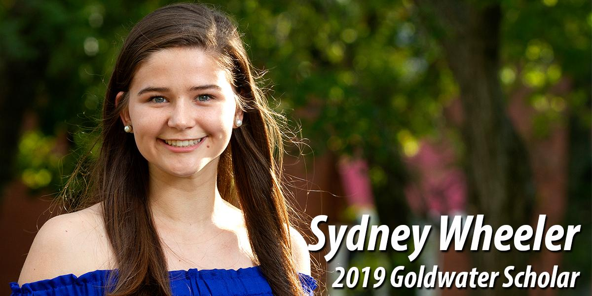 Sydney Wheeler - 2019 Goldwater Scholar