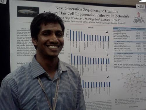 Gopinath Rajadinakaran at poster session of the IDEA meeting in New Orleans in 2011