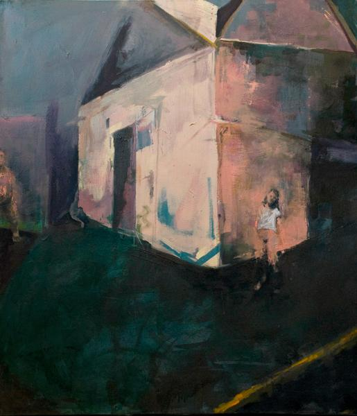 Jenni Dickens, Stay, oil on canvas
