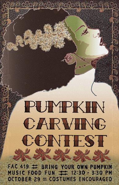 Moriah Dixon, Pumpkin Carving Poster, digital print