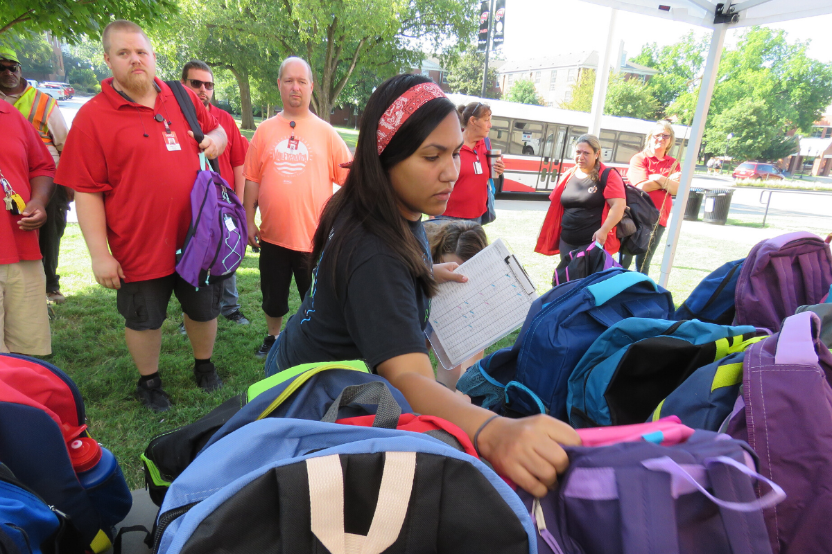 Each year, DFM stuffs backpacks for the children of employees. Education matters from kindergarten to college.