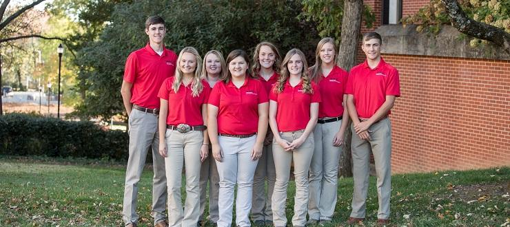 2019-2020 Agriculture Ambassadors Photo by Clinton Lewis