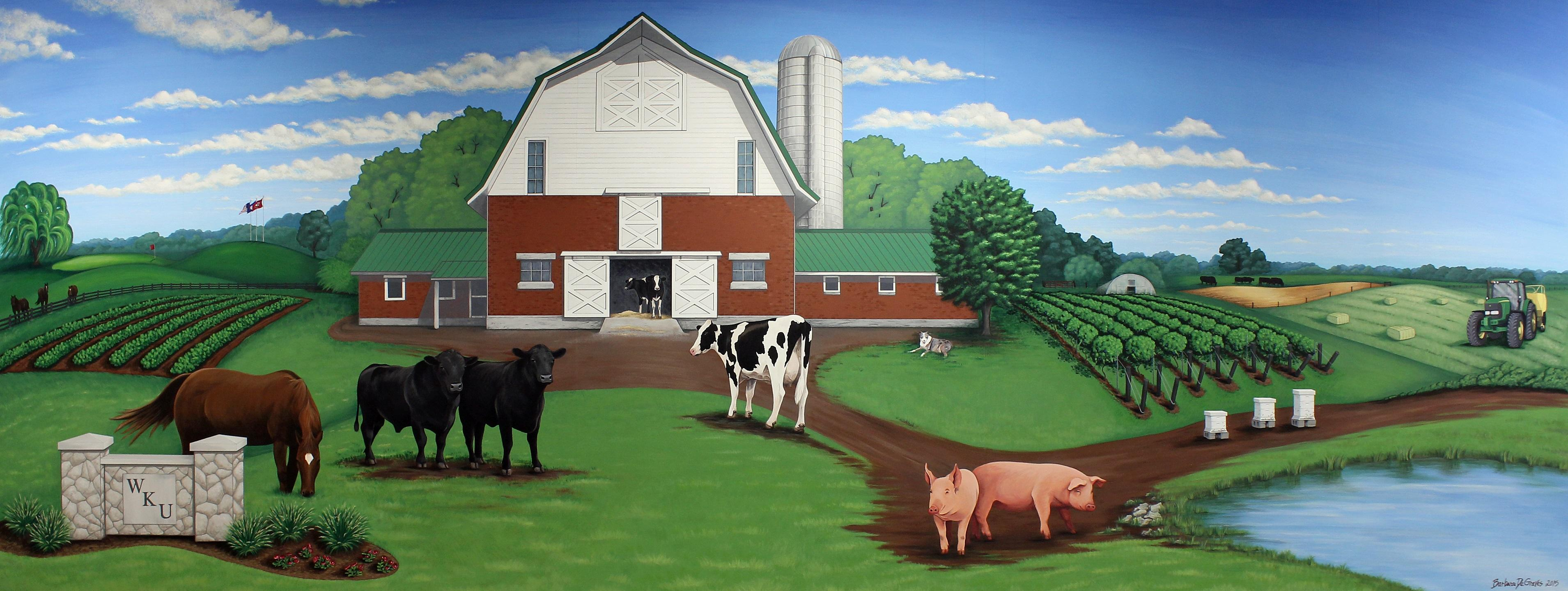 WKU Farm mural by Barb DeGraves