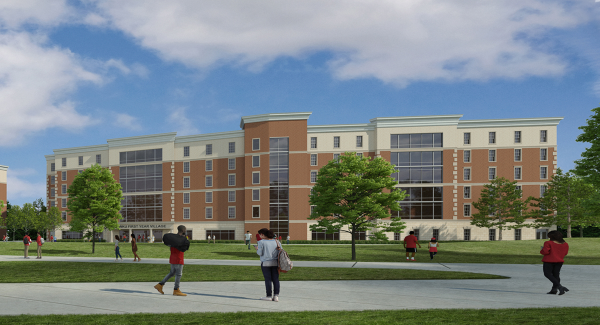 Exterior rendering of Normal Hall