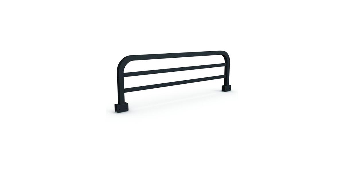 Metal bedrail | 42W X 1.25D X 12H