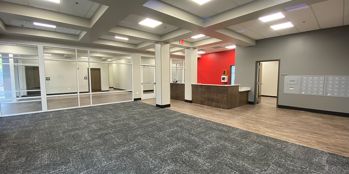 Lobby and front desk area in Normal Hall