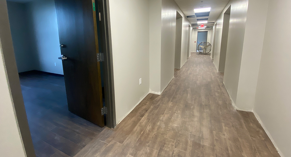 Hallway in residential area