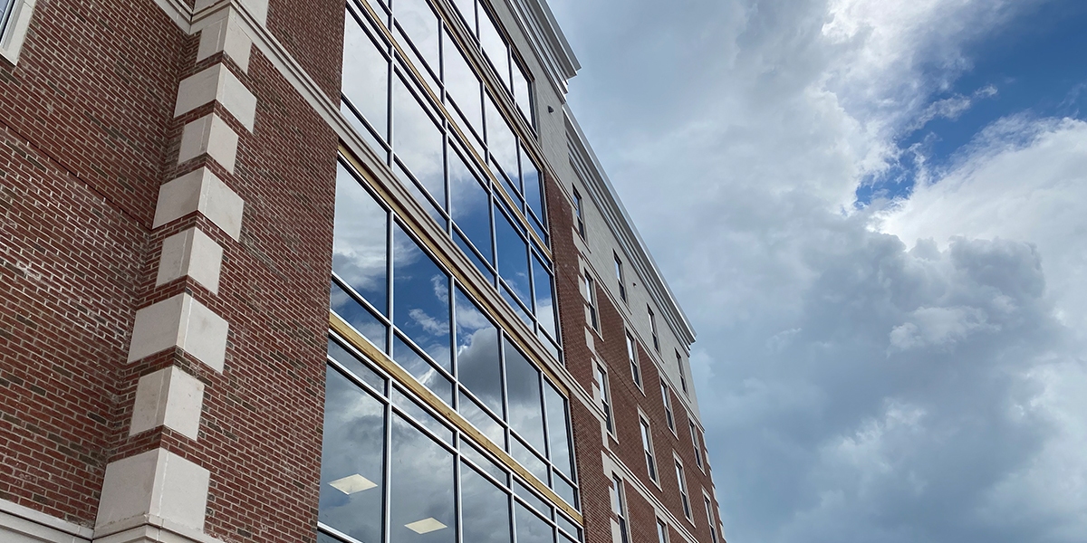 Large exterior windows