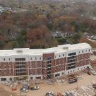 View Exterior birds eye view of Normal Hall. Larger