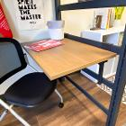 View Floating desk and chair on casters Larger