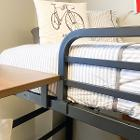 View Floating shelf and bedrail on bedframe Larger