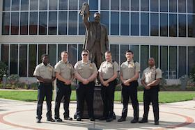 Picture of WKU Police Officers in front of Diddle Arena