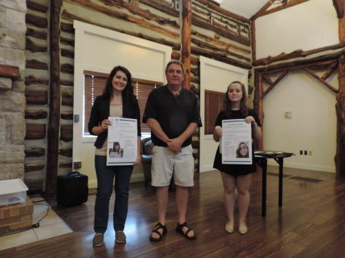 Graduate winner Dori Norman and Undergraduate winner Rachel Sudbeck