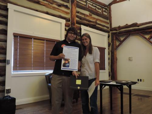 Catherine Ward Scholarship Recipient Justin Crenshaw