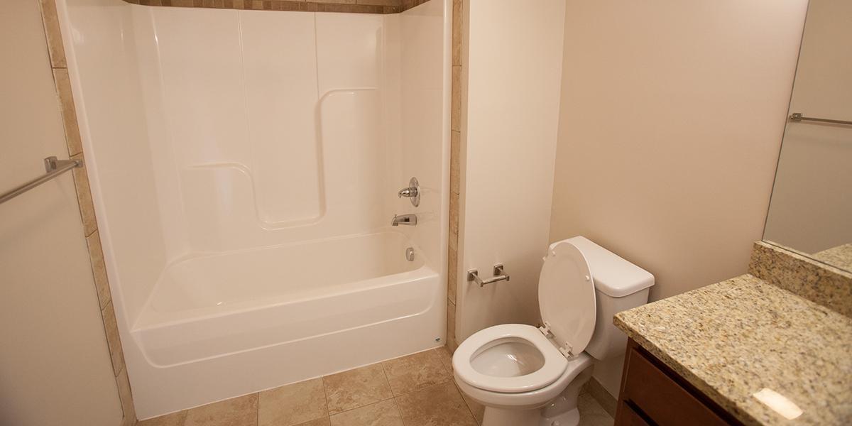 WKU Apartments at 1355 Kentucky Street Bathroom