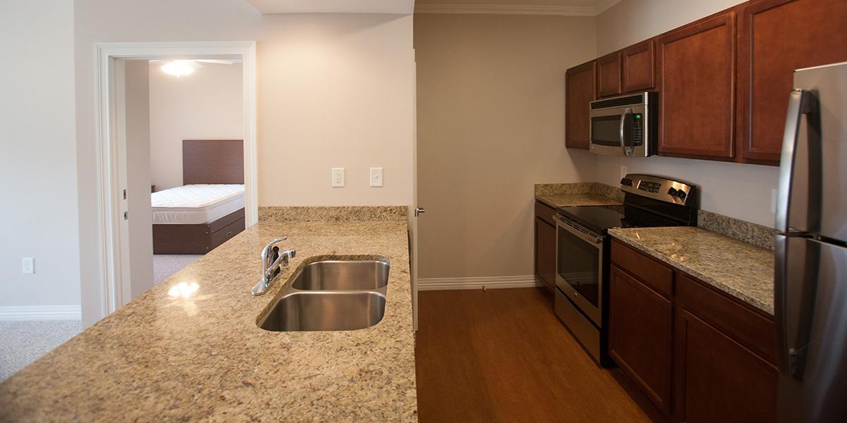 WKU Apartments at 1355 Kentucky Street Kitchen
