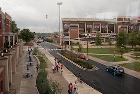 Street view of WKU football stadium