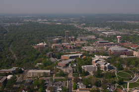Arial view of WKU Campus