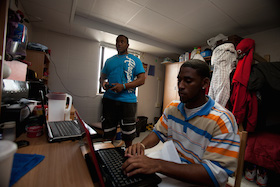 Students in Dorm Room studying