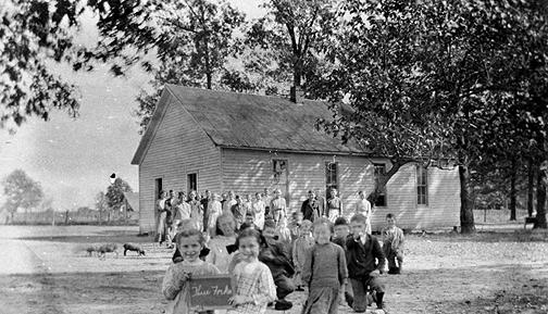 Three Forks covered its 26'x40' schoolhouse with a metal roof. (Courtesy of Library Special Collections, WKU)