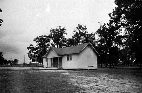 The electrically lit Three Forks two-room schoolhouse was constructed in 1919. (Courtesy of Library Special Collections, WKU)