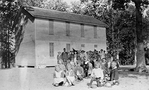 The Flat Rock School educated an average of 38 students in the second decade of the twentieth century. (Courtesy of Library Special Collections, WKU)
