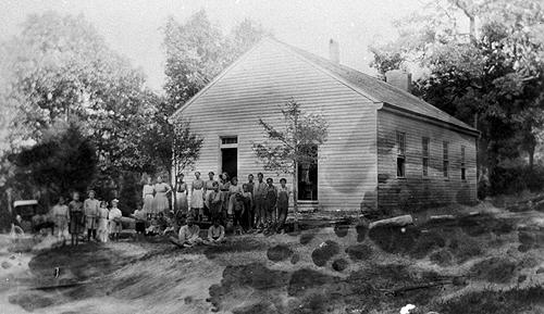 Rays Branch obtained its water from a spring. In 1924, a coal house was built and the boy's cloakroom was repaired. It was suggested that the building could use painting and plastering. (Courtesy of Library Special Collections, WKU)