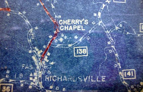 Cherry's Chapel was located in the northwestern region of Warren County. Do you have an image of this schoolhouse to share? (Courtesy of Library Special Collections, WKU)
