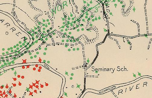 Shown on this 1928 Warren County map, little is known about the Seminary School which sat at the intersection of Slim Island Road and Highway 185. Do you have an image of this schoolhouse to share? (Courtesy of Library Special Collections, WKU)