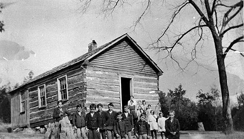 An average of thirty students enrolled in the Green Castle School between 1909 and 1920. A frame schoolhouse replaced Green Castle's log building in 1914. (Courtesy of Library Special Collections, WKU)