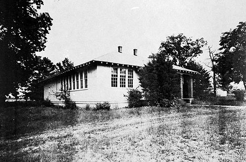Greenwood School's four-room schoolhouse was built in 1927 with an addition constructed in 1938. (Courtesy of Library Special Collections, WKU)
