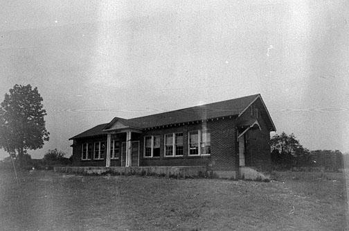 The Boyce school pictured here was built in 1935 and relied on natural light to illuminate the two-room school. A graded school existed at Boyce until at least 1948. (Courtesy of Library Special Collections, WKU)