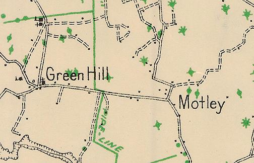 One of the schools shown on this 1928 Warren County map is the Green Hill African American schoolhouse. Schoolteachers between 1909 and 1922 included: Mary L. Stark (1909); Geneva Stark (1910); Thomas Payne (1911-17); J.P. Smith (1918-19); L. B. Payne (1920); and, Margie Bothic (1921-22). Do you have an image of this schoolhouse to share? (Courtesy of Library Special Collections, WKU)